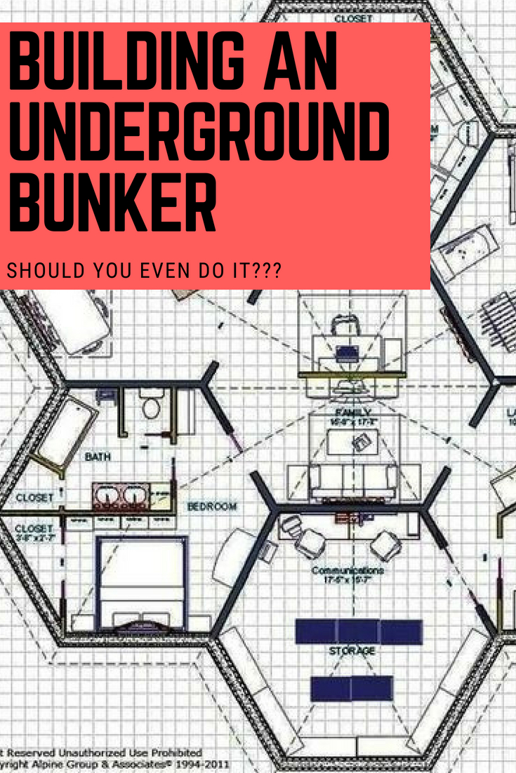 if you're going to bug in, do it right: diy bunker plans & above